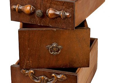 storage concept - old drawers
