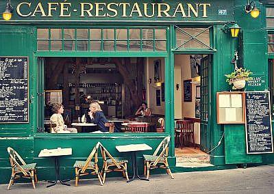 Typical parisian cafe.