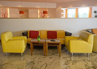 sofa relaxation area in a lobby reception