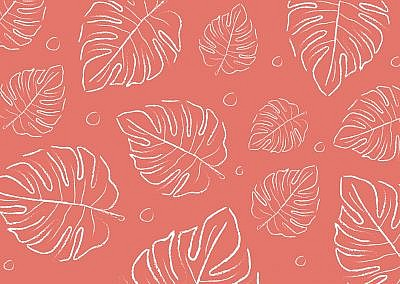 Color of the year 2019 Living coral . COY Livingcoral. Tropical leaves background